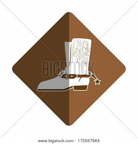 cowboy boots wild west vector illustration design