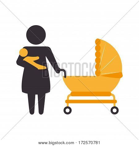 family members character icon vector illustration design