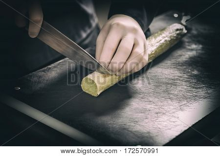 Chef Cutting Compound Butter