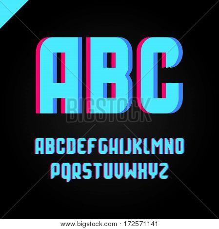 Vector Square Alphabet Simple Sport Font And Letter Set