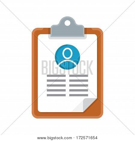 resume cv icon. Recruiting employment human resources. Searching cv and profile of employees. Vector illustration