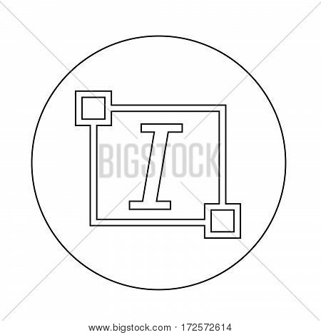 an images of Or pictogram Italic Text font edit letter icon