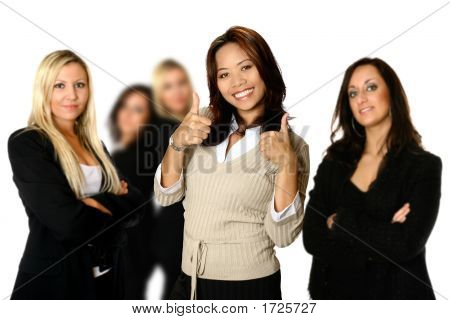 Diverse Female Team Lead By An Asian