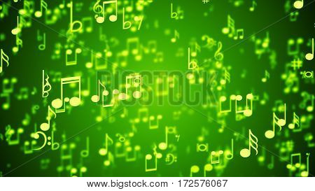 Aa abstract Background with Colorful Music notes.