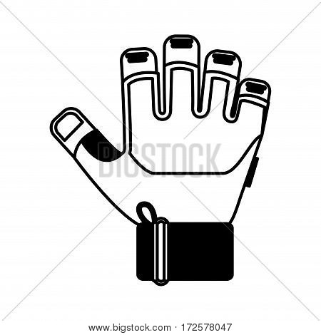 gym glove isolated icon vector illustration design