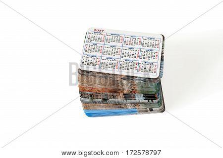 Set photo cards. Isolated on white background.