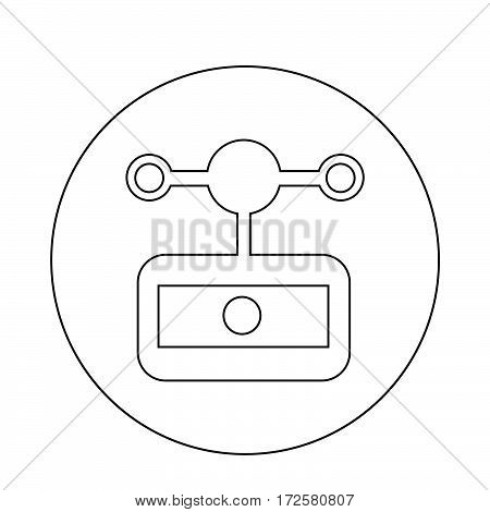 an images of Or pictogram anemometer wind meter icon