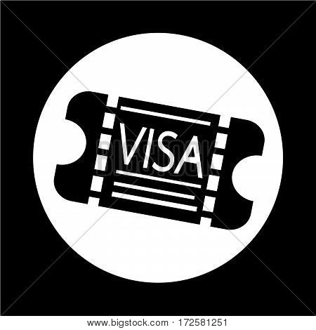 an images of Or pictogram Entrance Visa icon