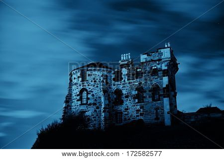 Old building in Calton Hill in Edinburgh, United Kingdom.