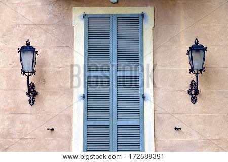 Grey Window Jerago Palaces Italy    Wood Venetian Blind In