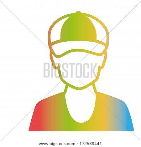 man avatar character isolated icon vector illustration design