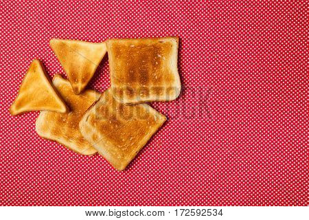 Toast On A Red Table