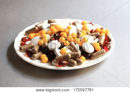 Tablets And Capsules As A Treatment Of A Disease In The Macro P
