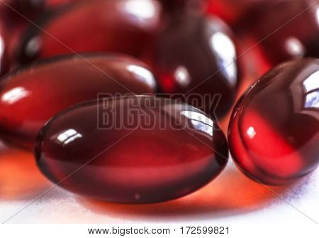 Tablets And Capsules As Treatment Of Disease Macro Picture