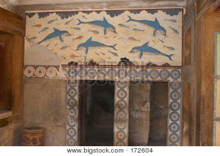 Dolphin Fresco, Knossos