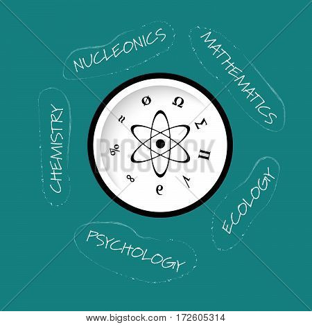 Vector colored info graphic with theme of science