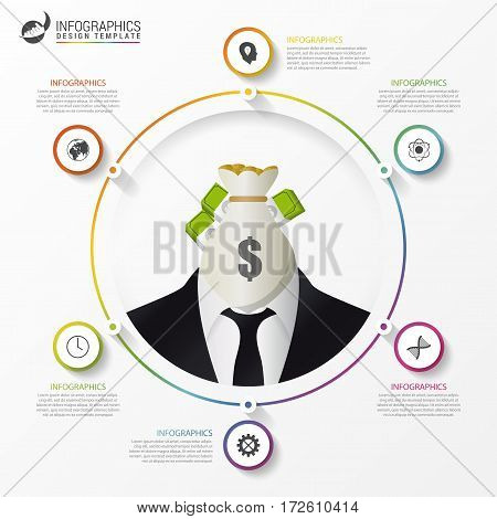 Infographic template. Modern business concept. Vector illustration