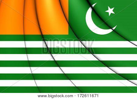 3D Flag Of Azad Jammu And Kashmir. 3D Illustration.