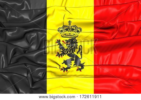 3D Government Ensign Of Belgium. 3D Illustration.
