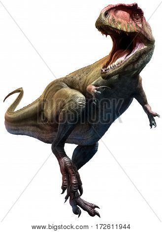 Giganotosaurus dinosaur from the Cretaceous era 3D illustration