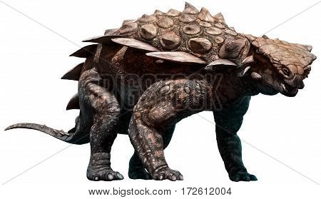 Gargoyleosaurus dinosaur from the Jurassic era 3D illustration