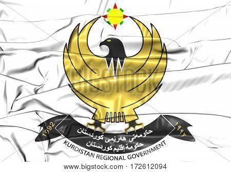 3D Kurdistan Regional Government Coat Of Arms. 3D Illustration.