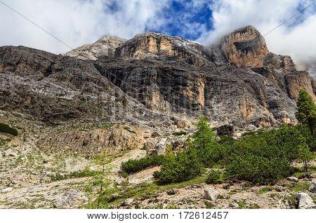 Dolomiti - mount Cavallo in Val Badia south Tyrol Italy