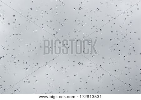 raindrops flowing through glas, closeup texture water