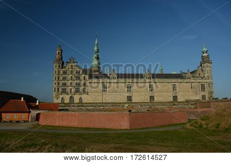 An external view of the castle at Helsingor