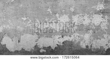 background broken dirty old wall of painted rough cement blank vintage surface texture design pattern of loft grunge surface