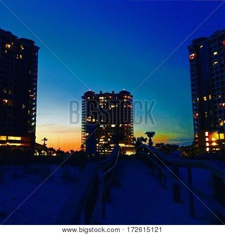 Portfolio hotel on Pensacola beach Florida .