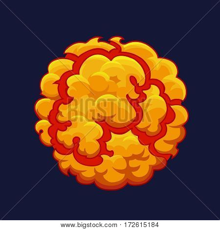 Smoke cartoon Explode effect. Bang or detonation 2d element vector