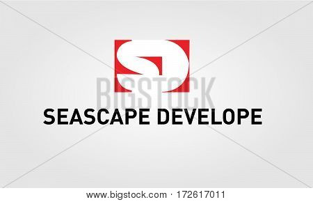 Logotype SD company group linked letter.Vector illustration