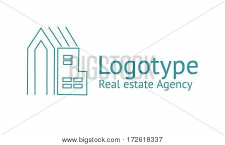 Logo template real estate apartment condo house rental business. brand branding logotype company corporate identity Clean modern and elegant style design