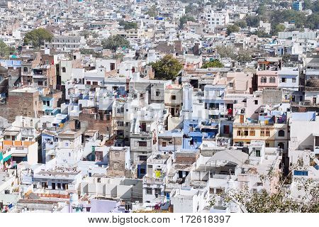 Aerial View Of Udaipur City, India