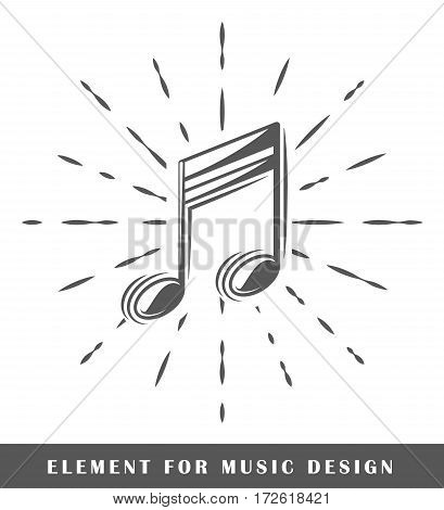 Notes isolated on white background. Design element. Vector illustration