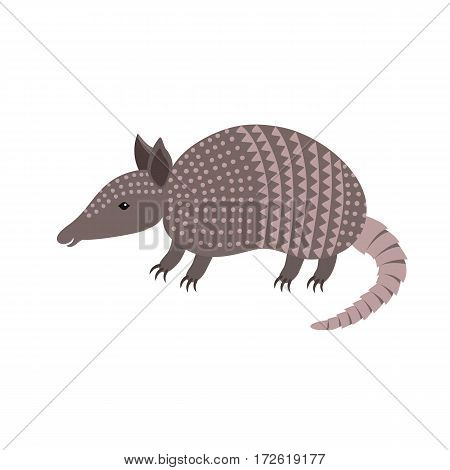 Cartoon armadillo animal smiling vector illustration for children