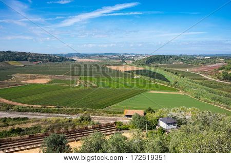 Landscape of rural Portugal at sunny day