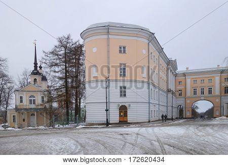 Znamenskoye Church and the Imperial Lyceum in Tsarskoye Selo