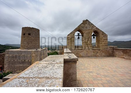 CAPDEPERA/ SPAIN - JUNE 14. Castle of Capdepera on June 14, 2016 in the municipality Capdepera, island Majorca, Spain.