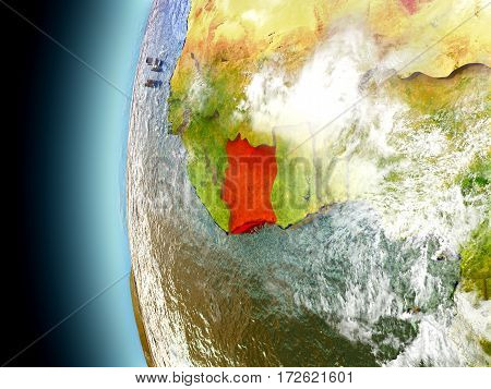 Ivory Coast On Planet Earth From Space