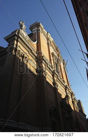 Cattedrale Metropolitana di San Pietro cathedral in Bologna in Emilia Romagna in Italy