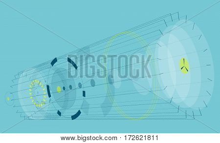 abstract, isometric, blue, circle, ellipse, round, composition, perspective, gunsight, gun, sightin device, reticle, circle, target, bullseye, crosshair, 3d, vectors, cross-hair, yellow, vector, black, concept, hair, eye, focus, cross, point, sight, pin,