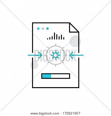File Processing Monoflat Icon.