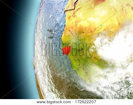 Guinea-bissau On Planet Earth From Space