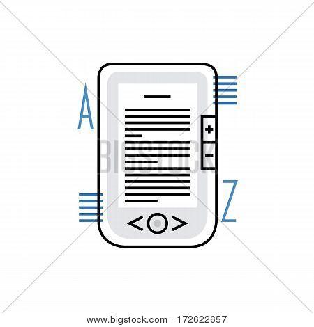 Digital Book Monoflat Icon.