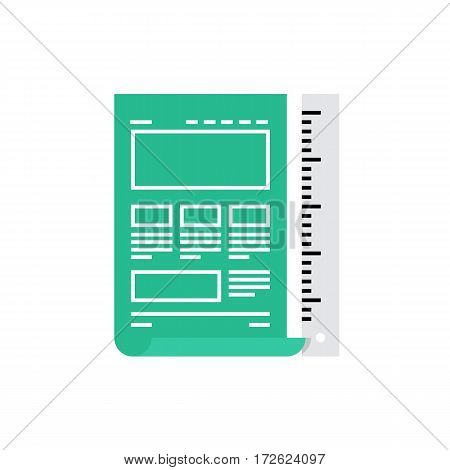Website Blueprint Monoflat Icon.