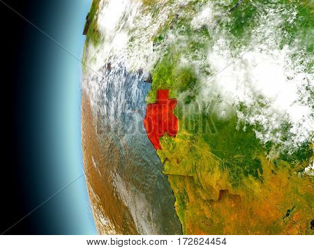 Gabon On Planet Earth From Space