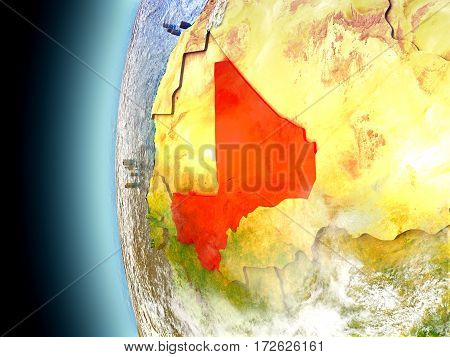 Mali On Planet Earth From Space