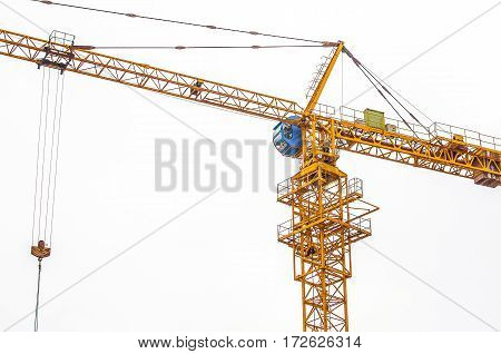Cranes industrial for construction have sky background